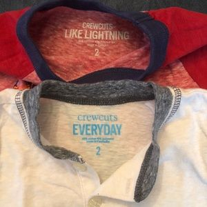 Bundle 2 long sleeved Crewcuts T-shirts 2T